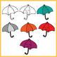 Umbrella Smiles (Weather) Clip Art Set – 12 images