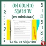 """FREEBIE!!! Un cuento al revés en miniatura: """"La tía de Alejandro"""""""