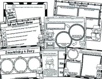 FREE!  Understanding Common Core: CCSS.RL.2 Gr. K-5 Graphic Organizer Sampler