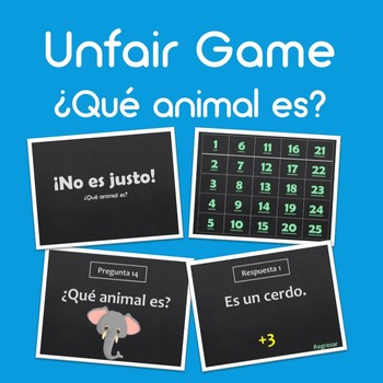 FREEBIE Unfair Game: Animals (¡No es justo! Animales)