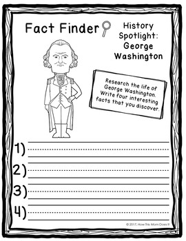 FREEBIE | United States Presidents Unit Study - Fact Finders Notebooking Pages