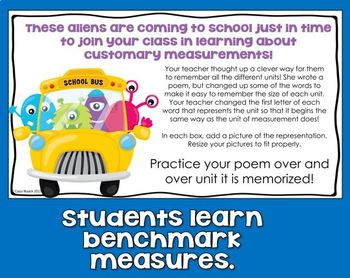 FREEBIE  Units of Measurement - Benchmark Units of Customary Measurement