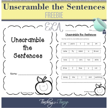 FREEBIE - Unscramble the Sentences
