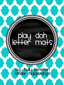 FREEBIE Upper and Lowercase Play Doh Letter Mats- Blue