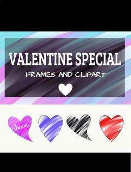 Freebie Valentine Bulletin Board Frame And Clipart By Ida