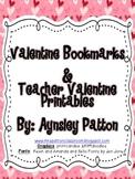 FREEBIE!  Valentine Bookmarks and Printables!