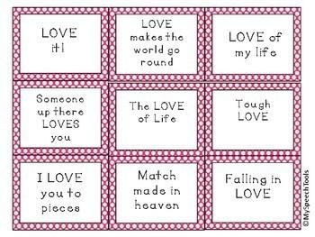 FREEBIE Valentine Idiom Task Cards