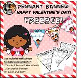 FREEBIE Valentine Pennant Banner Worksheet