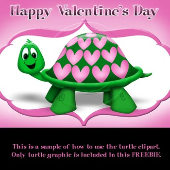 Valentine Turtle with heart shell