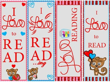 FREEBIE Valentine's Bookmarks