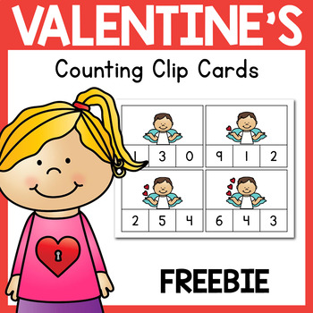 FREEBIE Valentine's Day Counting Clip Cards