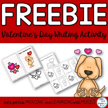 FREEBIE: Valentine's Day Card Literacy Writing ELA Activity