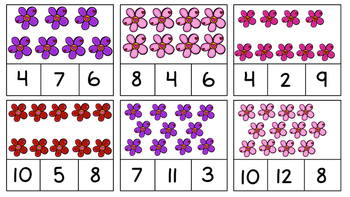 FREEBIE! Valentine's Day Counting Clip Cards for Math Centers