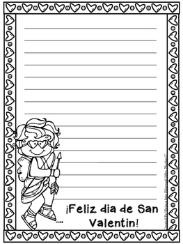 FREEBIE Valentine's Day Letters English and Spanish