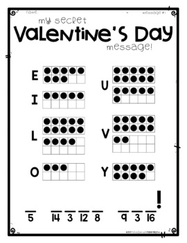 FREEBIE Valentine's Day Secret Messages by Education and Inspiration