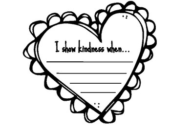 "FREEBIE - Valentine's Writing Template - ""I Show Kindness When.."""