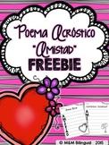 FREEBIE Valentine's Acrostic Poem {Spanish}