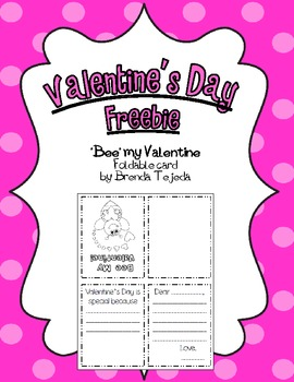 FREEBIE: Valentine's Day Foldable Card