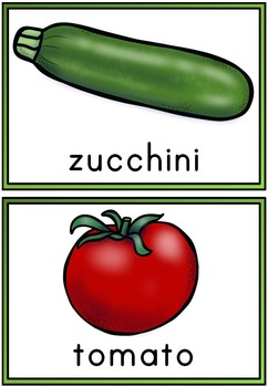 FREEBIE - Vegetables Word Wall and Vocabulary Pack