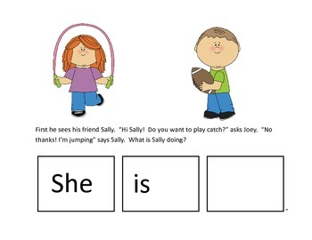 FREEBIE: Verbs and Pronouns Story