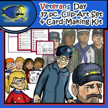 FREEBIE: Veterans Day 37 pc. Clip-Art Set and Card-Making Kit!