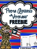 FREEBIE Veteran's Day Acrostic Poem {Spanish}