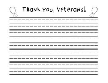 FREEBIE!!! Veteran's Day Writing