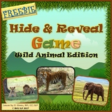 FREEBIE Vocabulary Hide and Reveal Game Teletherapy NO PREP NO PRINT