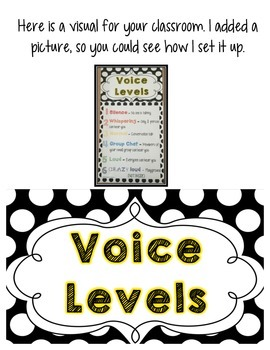 FREEBIE! Voice Level Chart