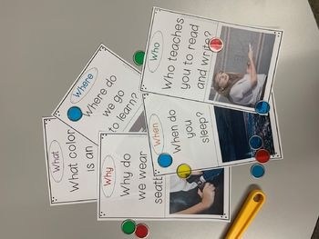 FREEBIE! WH-Question Cards with real photo's