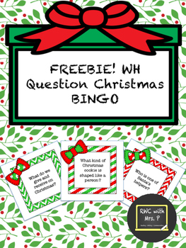 FREEBIE! WH Question Christmas BINGO