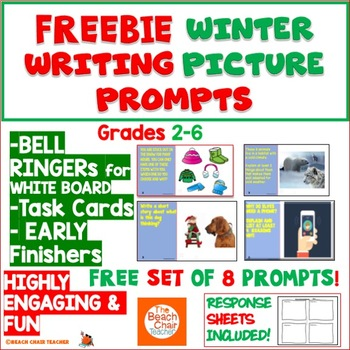 FREEBIE WINTER HOLIDAY Picture Writing Prompts | Writing Activities