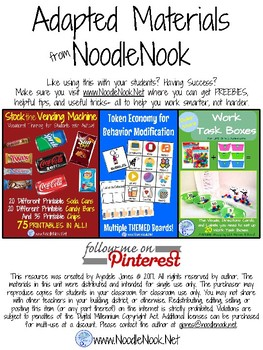 FREEBIE- WORD WORK for any Vocabulary List in Autism Units or Early Elem