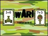 FREEBIE:  War!  Adding up to 10