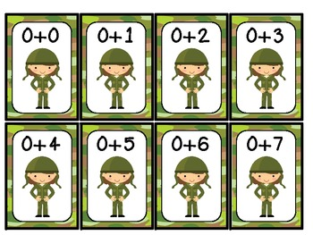 FREEBIE:  War!  Adding up to 10