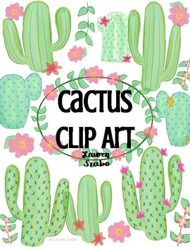 FREEBIE Watercolor Cactus Clip Art