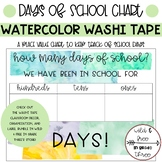 FREEBIE: Watercolor Washi Tape Days of School Place Value Chart