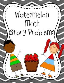 {FREEBIE} Watermelon Math Story Problems