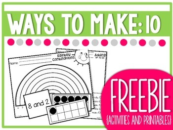 FREEBIE Ways to Make Ten