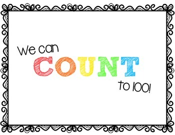 FREEBIE We Can Count to 100 Posters