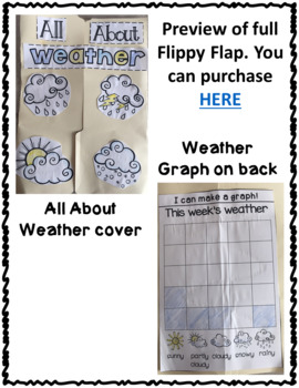 FREEBIE Weather Flippy Flaps Interactive Notebook Lapbook