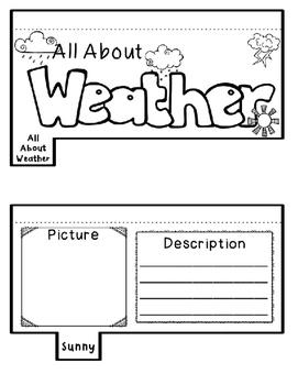 FREEBIE Weather Activities Interactive Notebook Lapbook