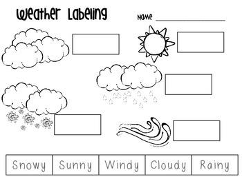 FREEBIE Weather Labeling