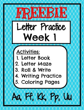 FREEBIE Week 1 Letter Name and Sound Activities