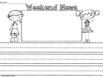 FREEBIE - Weekend News Stationary