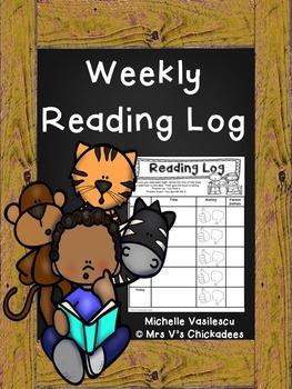 Weekly Reading Log (FREE}