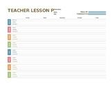 FREEBIE! Weekly Teacher Lesson Plans