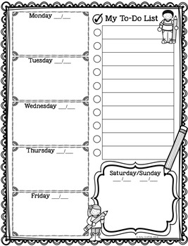 FREEBIE Weekly To-Do List