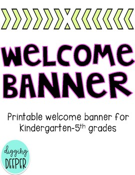 FREEBIE: Welcome Banner