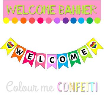 FREEBIE Welcome Banner - Colour me Confetti